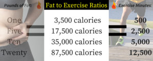 Fat to Exercise Ratios